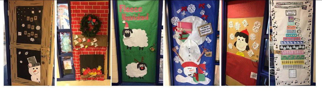 Madison Middle School Door decorations